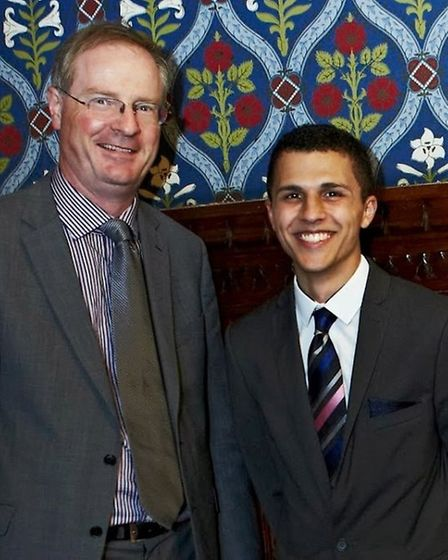 Andrew West (right) with Stafford MP Jeremy Lefroy. Picture: JONATHAN BIRCH