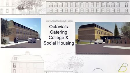 Coalwharf Road, Wisbech. Octavia's Catering College & Social Housing.