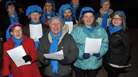 March Christmas Lights Switch on 2013. FACET Choir. Picture: Steve Williams.