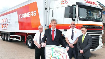 Turners award winning team, from left to right, Adrian Robinson: Driver Trainer Turners (Spalding De