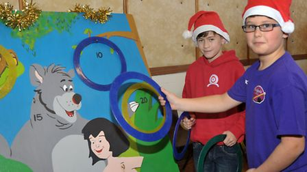 Christmas bazaar at the Queen Mary Centre Wisbech. Left: Toby Elliott and Ryan Carey
