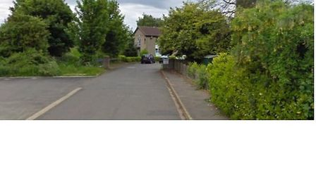 The entrance to the site showing the residential home, which has since been demolished
