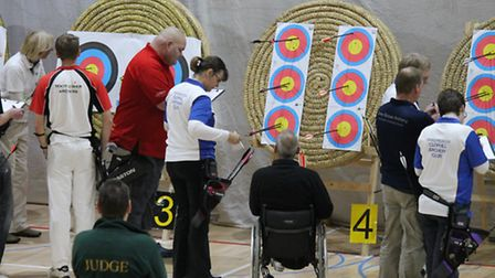Action from Ely Archers Portsmouth Competition