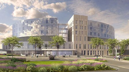 Views of the proposed new Papworth Hospital site