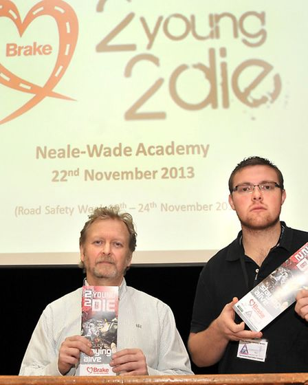 Neale Wade 2Young 2Die Safety Film. Left: Graham Chappell and Ryan Berridge.