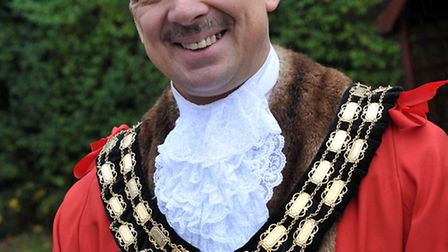 March Santa Run for the East Anglia's Children's Hospices (EACH). Mayor of March Andrew Pugh.Picture