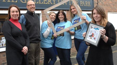 Louise Poulton, owner of The Gallery on the Park, Tom Deakins, competition judge, Louise Cohen, Sue