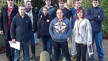 Sponsored walk by students from the Isle campus of the College of West Anglia.