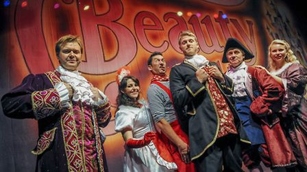 The cast of Beauty and the Beast, which runs at King's Lynn Corn Exchange from December 6-31.