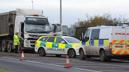 Collision at Witcham Toll involved a lorry and a tractor