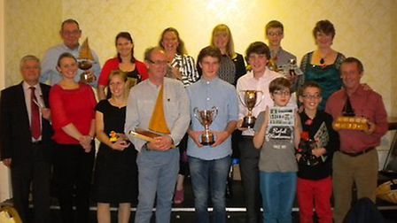 Some of Ely Sailing Club's annual prize winners