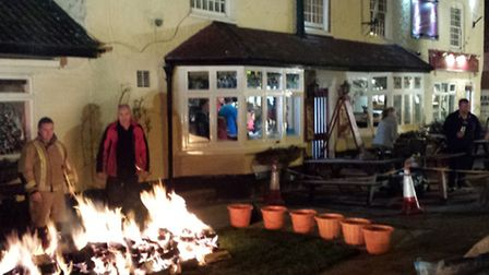 Fire walk for Children in Need at Georges, March
