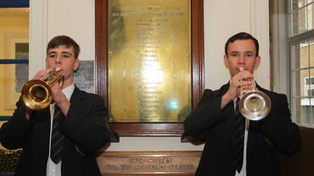 Edward Page and Fraser McNab, who performed the reveille and the last post.