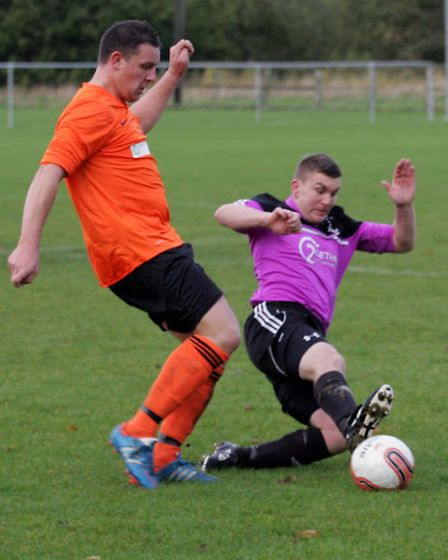 Wisbech St Mary FC v Leverington FC. Picture: Barry Giddings.