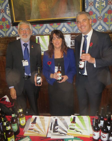 Steve Barclay MP joins Karen Nicholas and Paul Marshall from the Award-winning ElGood's Brewery. Elg
