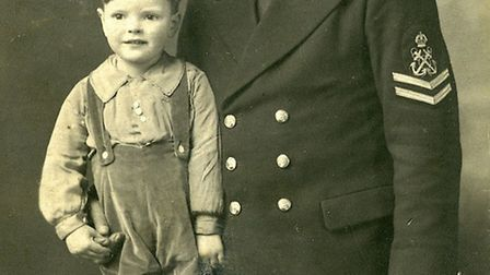 Dennis Feary and his father Ernest.