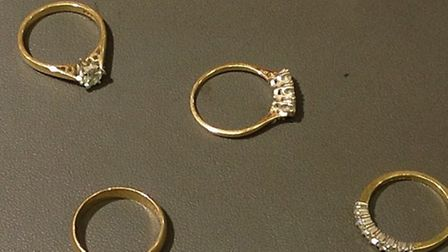The rings which were seized by police