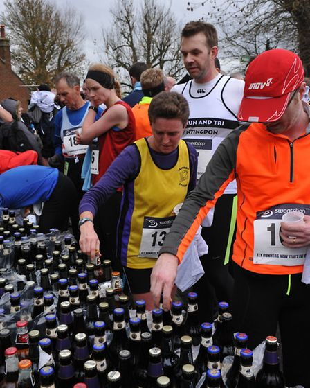 Beer for all runners at the 10k race. Picture: ROB MORRIS