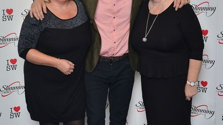 Slimming World consultants Karen Roe and Sharon Heaps meet comedian and TV presenter Paddy McGuinnes
