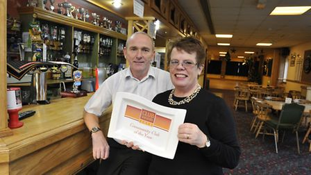 Littleport Leisure Centre win National Award, (l-r) Manager Andy Rutterford and newly elected Chairm