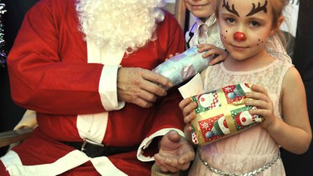 Tiddlywinks Pre-School in Stretham held their Brunch With Santa, (l-r) Phoebie Cowley and Korline Co