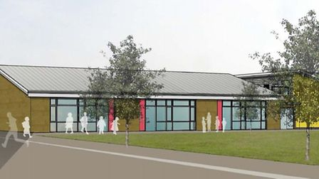 Artist's impression of the extension proposed for Orchards Primary School, Wisbech