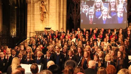 Soham Village College's annual carol service at Ely Cathedral