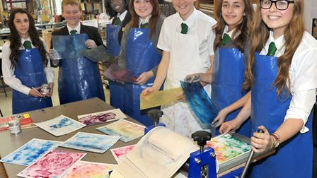 Soham village college. The Emerald Tie Students have fundraised for two years to buy a new rolling p