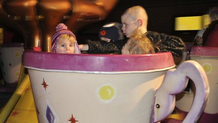 The teacup ride proved popular.