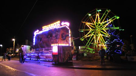 Fairground rides were set up in the village for the event.