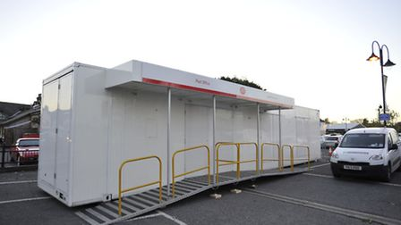 The post office in the Paradise Centre car park