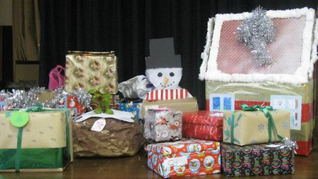 The Christmas hampers were donated to Octavia View.