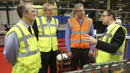 North East Cambs MP Steve Barclay, second from right, visits JDR at Littleport.