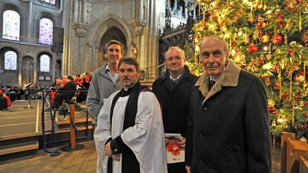Papworth Hospital Charity Carol Service at Ely Cathedral, (l-r) Dr Keith McNeill, Chief Executive of