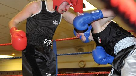 March ABC boxing show. Red Corner Percy Baxter. Blue Corner Ryan Ayton. Picture: Steve Williams.
