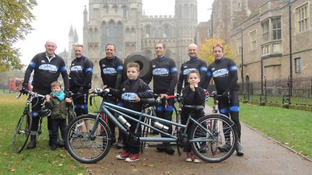 Ian Smith, far right, pictured with other Octagon Cycling members of they day Luke was presented wit