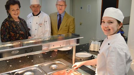 Apprentice1 Left: Sue Freestone - Principal at King's Ely, Tony McInally - Head Chef at King's Ely,