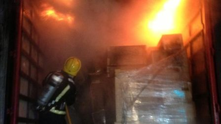 Lorry fire on the A1