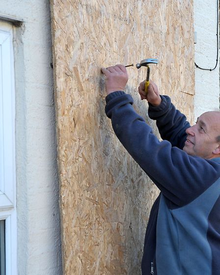 Peter Taylor is boarding up his front door and windows to finally end the planning row.