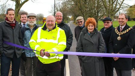 The improved pathway is officially opened.