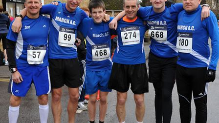 March Athletic Club runners at the Little Downham 10k. Picture: ROB MORRIS