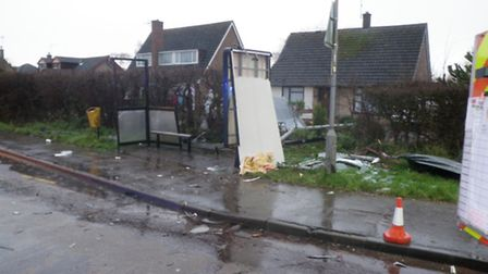 Incident photo at Yaxley during storm on Saturday