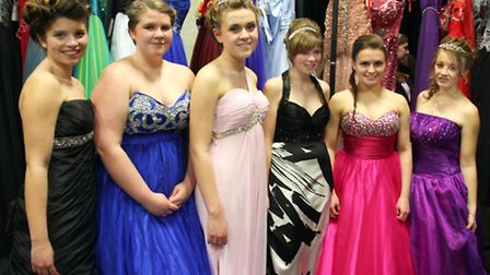 Students took to the catwalk for Soham Village College's prom fair and fashion show. Picture: MIKE R