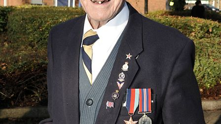 Eric Deuters at the 2012 March Remembrance Day parade. Picture Steve Williams
