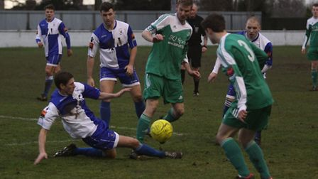 Soham Town Rangers in action against Erith and Belvedere