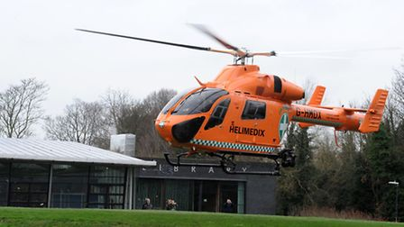 The Magpas air ambulance takes off. Picture: ROB MORRIS