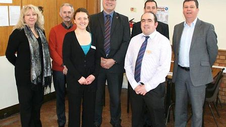 JOB CAFE - Queen Mary Centre, Wisbech. Representatives of some of the organisations supporting the s