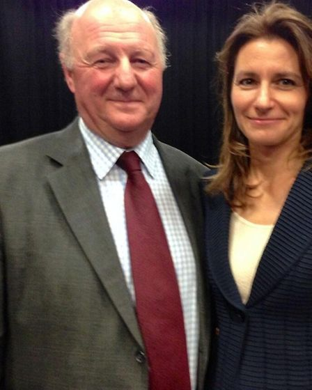 Sir Jim Paice offers a warm welcome to Lucy Frazer after she was reconfirmed as his party's choice t
