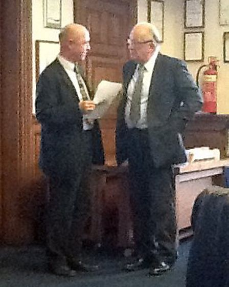 Cllr Kit Owen, right, is at the meeting.