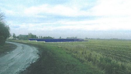 An artist's impression of the solar panels.